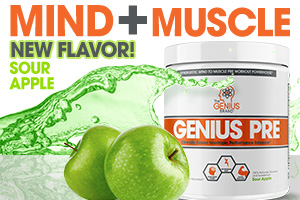 Genius PRE: Now in Naturally-Flavored Green Apple!