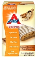 Atkins Day Break Oatmeal Cinnamon Baked Square