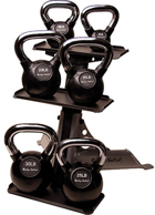Body-Solid Body Solid 105 lb Kettle Bell Set with Rack
