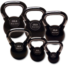 Body-Solid Body Solid Chrome Handle Rubber Kettle Bell Set Singles 5-30lbs