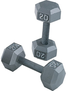 Body-Solid Body Solid Grey Hex 5-50lbs Dumbbell Set