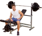 Body-Solid Body Solid Olympic Weight Bench with Leg Attachment