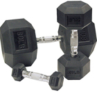 Body-Solid Body Solid Rubber Hex 5-50lbs Dumbbell Set