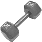 Cap Barbell 20 lb Hexagon Solid Dumbbell Weight