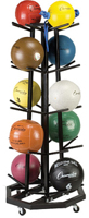 Champion Sports 4-Sided Premium Medicine Ball Tree