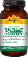 Country Life Magnesium Potassium Aspartate