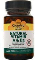 Country Life Natural Vitamin A & D3