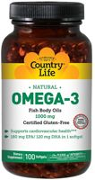 Country Life Omega-3 Fish Oil