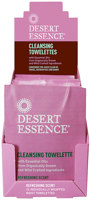 Desert Essence Cleansing Towelettes with Organically Grown Essential Oils