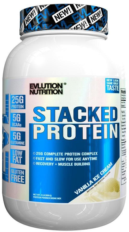 Evlution Nutrition Stacked Protein 4 Lbs Birthday Cake Chocolate Decadence Chocolate Peanut Butter Vanilla Ice Cream For 49 99 B1g1 Free At Bodybuilding Com Expired Supplement Deals Priceplow Forum