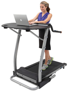 "Exerpeutic 2000 ""Workfit"" High Capacity Desk Station Treadmill"