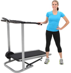 Exerpeutic 250 Manual Treadmill with Extended Safety Handles and Pulse