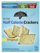 Fiber Gourmet Half-Calorie Snack Crackers