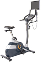 Game Rider Exercise Bike with LCD-TV & Interactive Workout