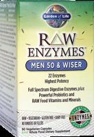 Garden of Life Raw Enzymes - Men 50 & Wiser