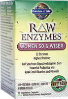 Garden of Life Raw Enzymes - Women 50 & Wiser