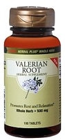 GNC Herbal Plus Whole Herb Valerian Root