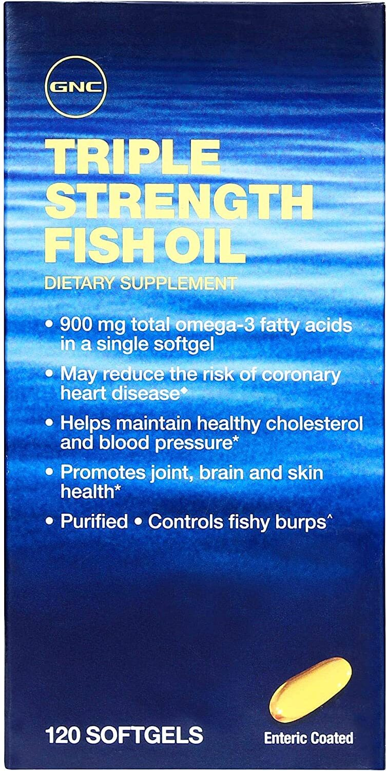 Gnc compare prices save at priceplow for Gnc triple strength fish oil 1500