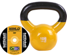 GoFit 10 LB Premium Kettle Bell with Introductory Training DVD