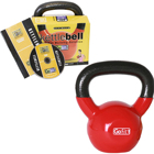 GoFit 15 LB Premium Kettle Bell with Introductory Training DVD