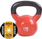 GoFit 25 LB Premium Kettle Bell with Introductory Training DVD