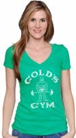 Gold's Gym Women's Lucky Deep V Tee
