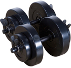 Impex 40lb Vinyl Dumbbell Set