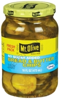 Mt. Olive No Sugar Added Bread & Butter Pickle Chips