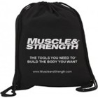 Muscle and Strength Drawstring Gym Bag