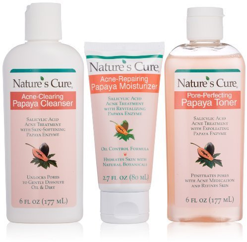 Nature S Cure Anti Acne Papaya Skin Care System Priceplow