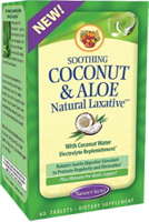Nature's Secret Soothing Coconut & Aloe - Natural Laxative