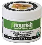 Nourish Skin Organic Acai Berry & Seabuckthorn Nighttime Renewal Face Moisturizer