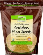 NOW Golden Flax Seeds - Organic
