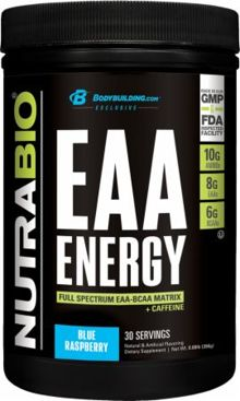 NutraBio EAA Energy: 10g total aminos, 125mg caffeine!