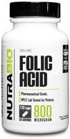 NutraBio Folic Acid