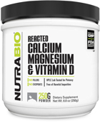 NutraBio Reacted Calcium Magnesium & Vitamin D
