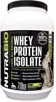 NutraBio Whey Protein Isolate Natural