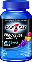One A Day VitaCraves Gummies plus Omega-3 DHA
