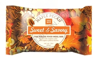 Savory meal replacement bars