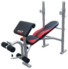 Pure Fitness Mid Width Bench with Preacher Curl
