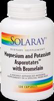 Solaray Magnesium & Potassium With Bromelain