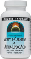 Source Naturals Acetyl L-Carnitine and Alpha Lipoic Acid