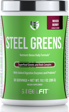 SteelFit Steel Greens: Superfood Reds and Greens Powerhouse!