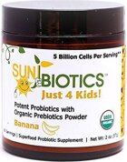 Sunbiotics Just 4 Kids! Potent Probiotics with Organic Prebiotics Powder