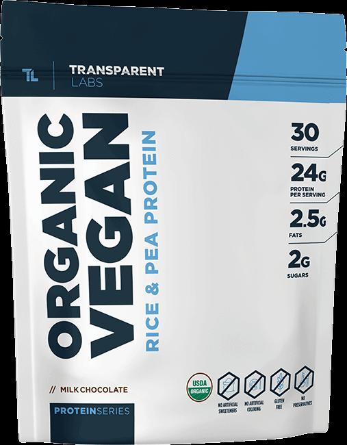 Transparent Labs Organic Vegan Rice & Pea Protein
