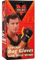 Valeo Leather Bag Gloves with Wrist Wraps